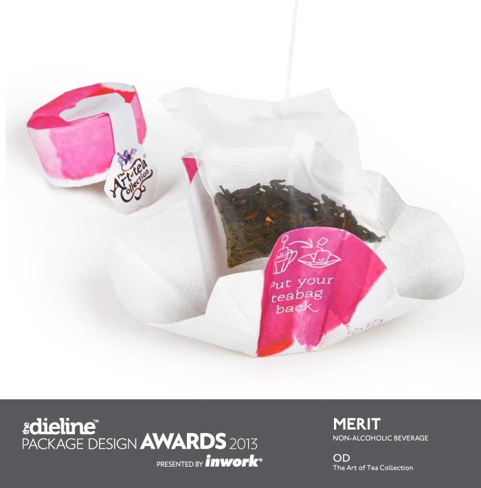 акварельный дизайн упаковки чая